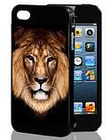 3D чехол на Iphone 5/5s Леопард, фото 2
