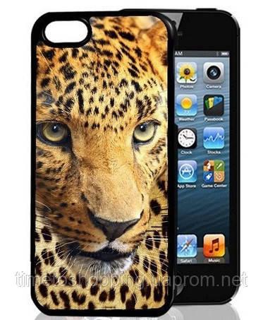 3D чехол на Iphone 5/5s Леопард