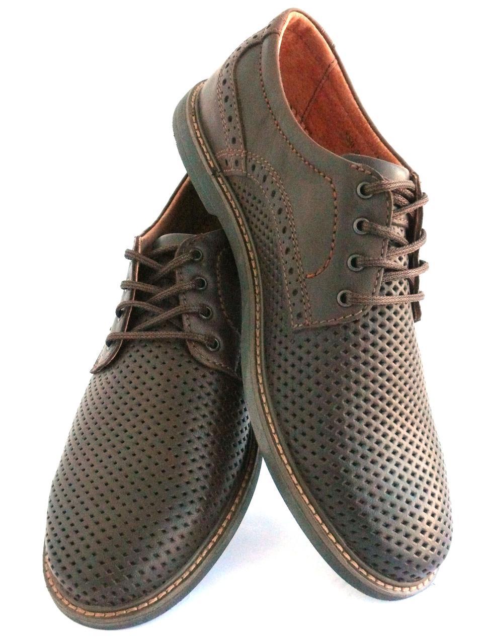 ... Мужские туфли с натуральной кожи коричневые BUMER р. 40 41 42 43 44 45,  ... a9e6248864b