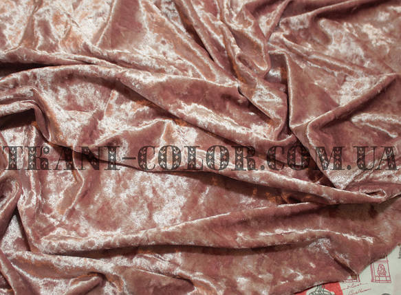 Ткань бархат-мрамор стрейчевый фрез, фото 2