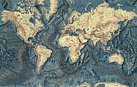 "Фотообои на стену ""Карта морского дна"""