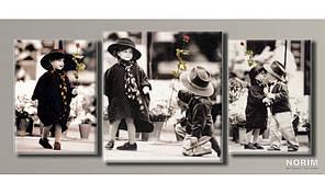 "Модульная картина на холсте ""Дети от Kim Anderson 2"" (HAT-125)"