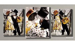 "Модульная картина на холсте ""Дети от Kim Anderson 3"" (HAT-126)"