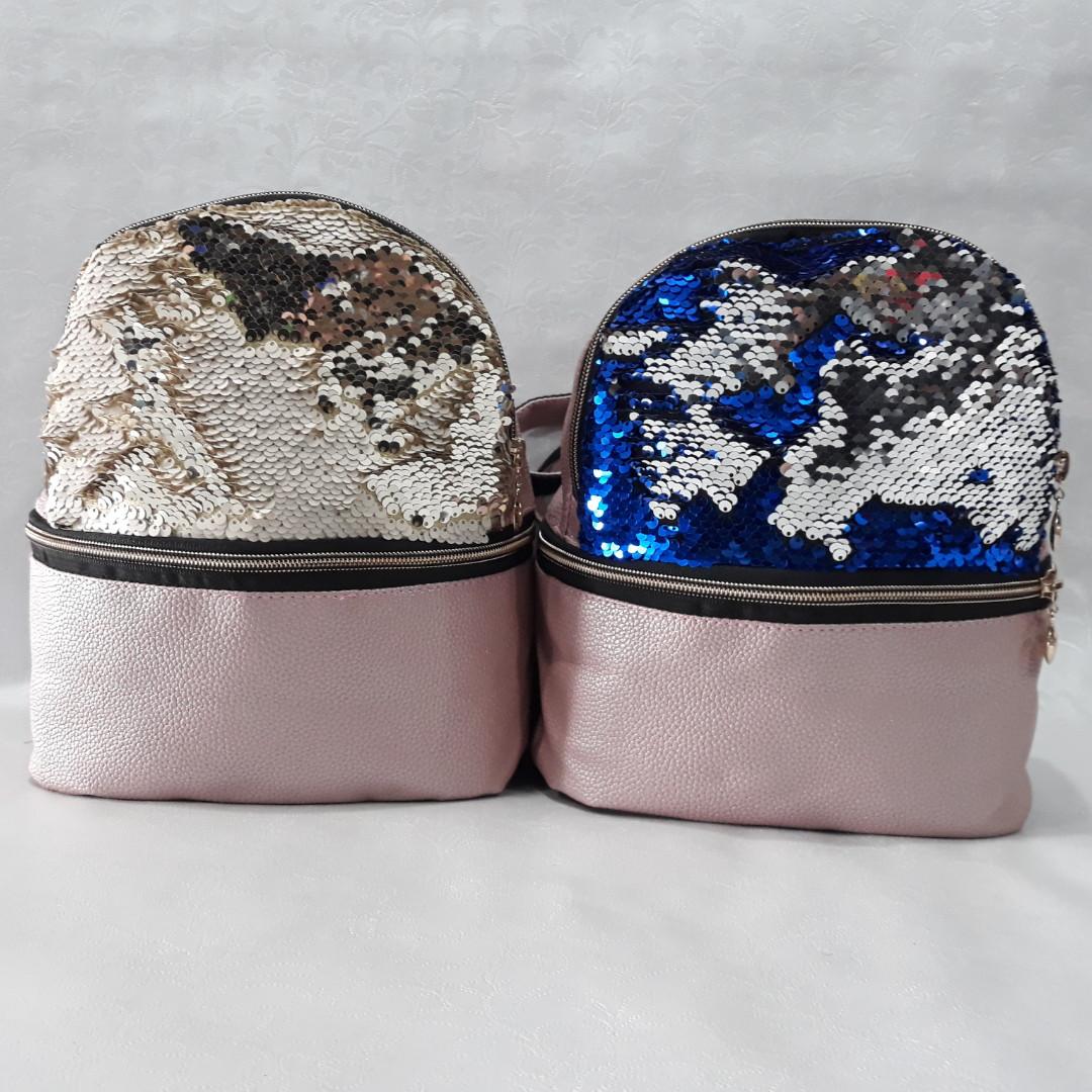Стильный женский рюкзак, с двухсторонними серебристыми пайетками. Хит  сезона 2018. Мега популярный! 1390c5d83c6