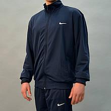 Большие размеры:50-56, Темно-синий мужской спортивный костюм Nike (Найк)   Турция, трикотаж-лакоста