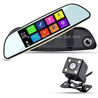 "D35 Зеркало регистратор, 7"" сенсор, 2 камеры, GPS навигатор, WiFi, 16Gb, Android, 3G"