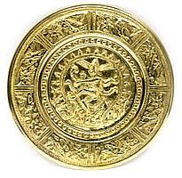 Тарелка настенная бронзовая Танцующий Шива (d-18,5 см)