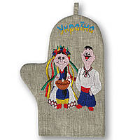 Прихватка-рукавица льняная