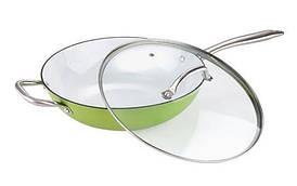 Сковорода-вок Bergner Эмалированный чугун 32х9,2см