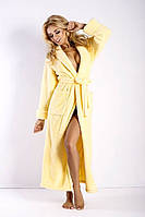 Длинный женский халат с воротником  DKaren Польша   DKaren-43