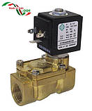 Соленоидный (электромагнитный) клапан для воды нормально открытый G1/2 (ODE, Italy), фото 2