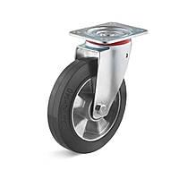 Поворотне колесо 200 мм еластична гума 300 кг