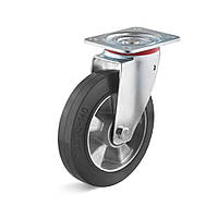 Поворотное колесо 200 мм эластичная резина 300 кг
