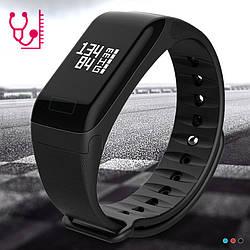 Фитнес браслет WearFit F1 с функцией тонометра. Черный.