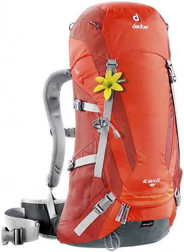 Практичный, туристический рюкзак 22 л. для хайкинга, треккинга, женский AC AERA 22 SL DEUTER, 34704  оранжевый