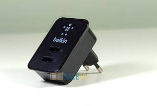 Зарядка для iPhone на 2 порта USB, кабель (шнур) Lightning 1.2 м для айфона 5 6 7 8 Х, Belkin F8J053Ett, фото 3