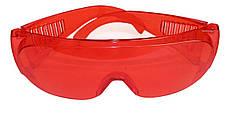 Очки защитные противоосколочные красныеHtools82K052