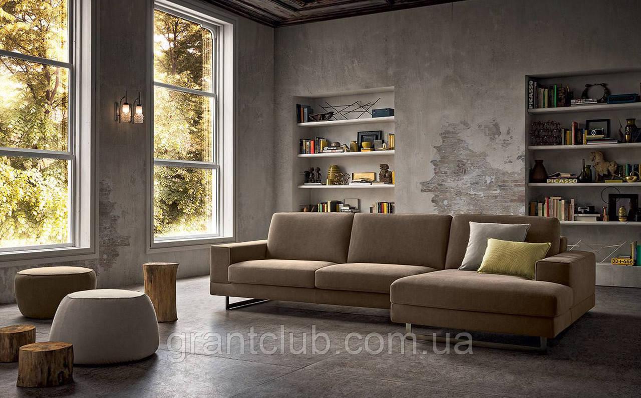 Итальянский модульный диван с контрастным кантом на высокой базе ANGEL фабрика Felis