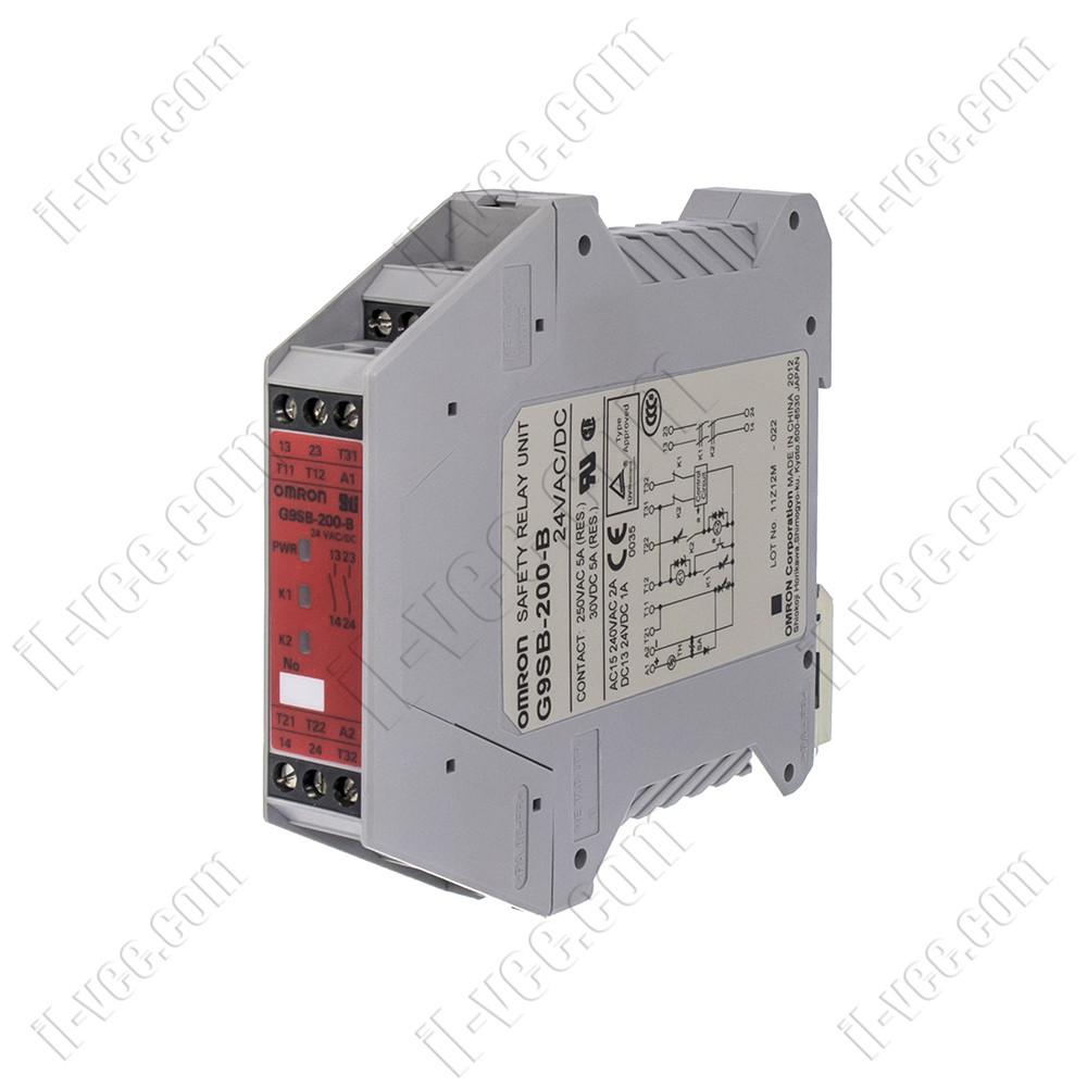 Реле безопасности OMRON G9SB-200-B, 24V DC/AC