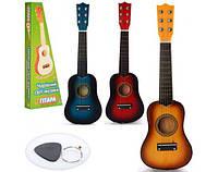 Гитара деревянная, металлические струны