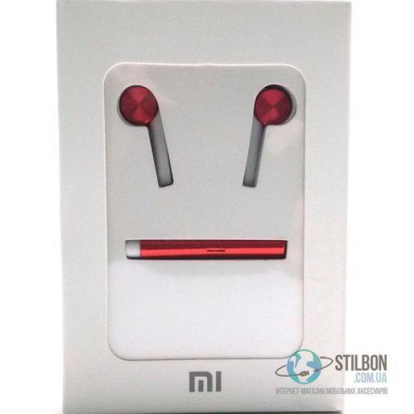 Xiaomi MI 7 Original Design - наушники с микрофоном, ЦВЕТ красный