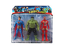 Набор супергероев 3шт, пластик, Блистер, 27x4.5x24см