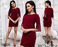Элегантное женское мини платье с бахромой размеры S-L, фото 1