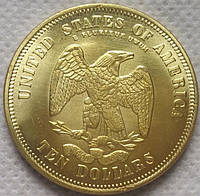 10 долларов США 1875 год