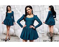 Короткое женское платьес пышной юбкой размеры S-L, фото 1
