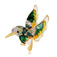 Позолоченная брошь «Волшебная колибри», фото 1
