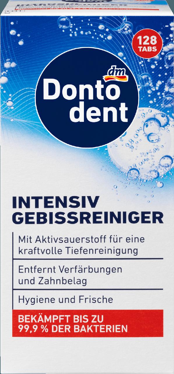 Шипучие таблетки для чистки зубных протезов Dontodent Anti - Bakteriell Intensiv-Gebissreiniger, 128 шт.
