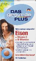 Биологически активная добавка Das Gesunde Plus Eisen, Vitamin C, Vitamin B12, Vitamin B6, 40 шт.