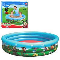 Детский надувной бассейн - Bestway 91007 Микки.Детский бассейн на 3 кольца.