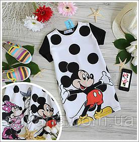 """Детские футболки с принтом """"Микки Маус"""", в моделях. МК-4-0318"""