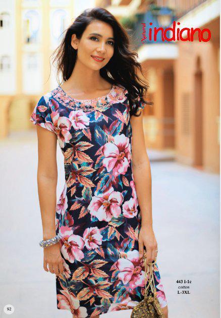 Платье женское летнее с цветами из хлопка Индиано 443 I