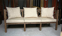 Скамья садовая со спинкой, деревянная мебель для дачи Эмине  1200мм, фото 1