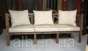 Скамья садовая со спинкой, деревянная мебель для дачи Эмине  1200мм