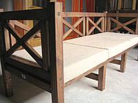 Скамья садовая со спинкой, деревянная мебель для дачи Эмине 2000мм , фото 1
