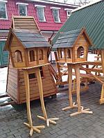"""Деревянная кормушка для птиц """"Умная Цапля"""""""