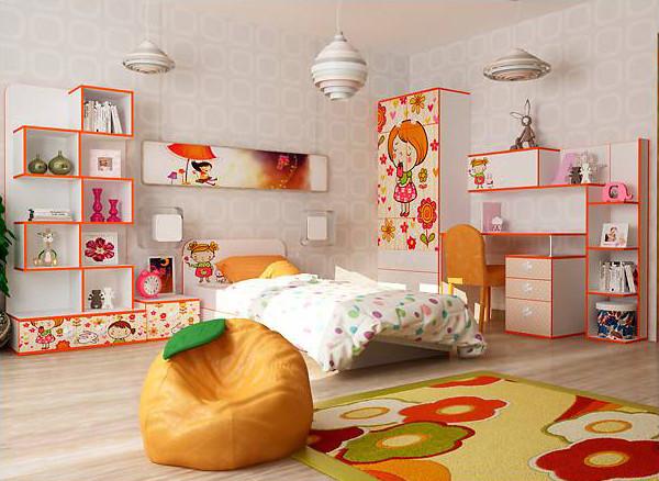 Дитяча кімната з ДСП/МДФ (базовий комплект) Мандаринка Matroluxe