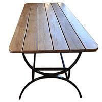 Стол садовый металлический в сосне/ольхе