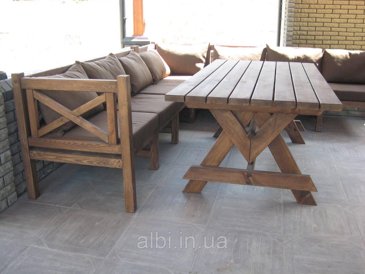 Стол Эмине 1,4м, деревянная мебель для дачи Эмине