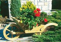 Тачка деревянная декоративная Усадьба, фото 1