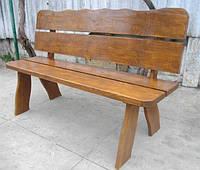 Скамья Мещанка №2 со спинкой 1,3м-1,5м садовая, деревянная мебель для дачи , фото 1