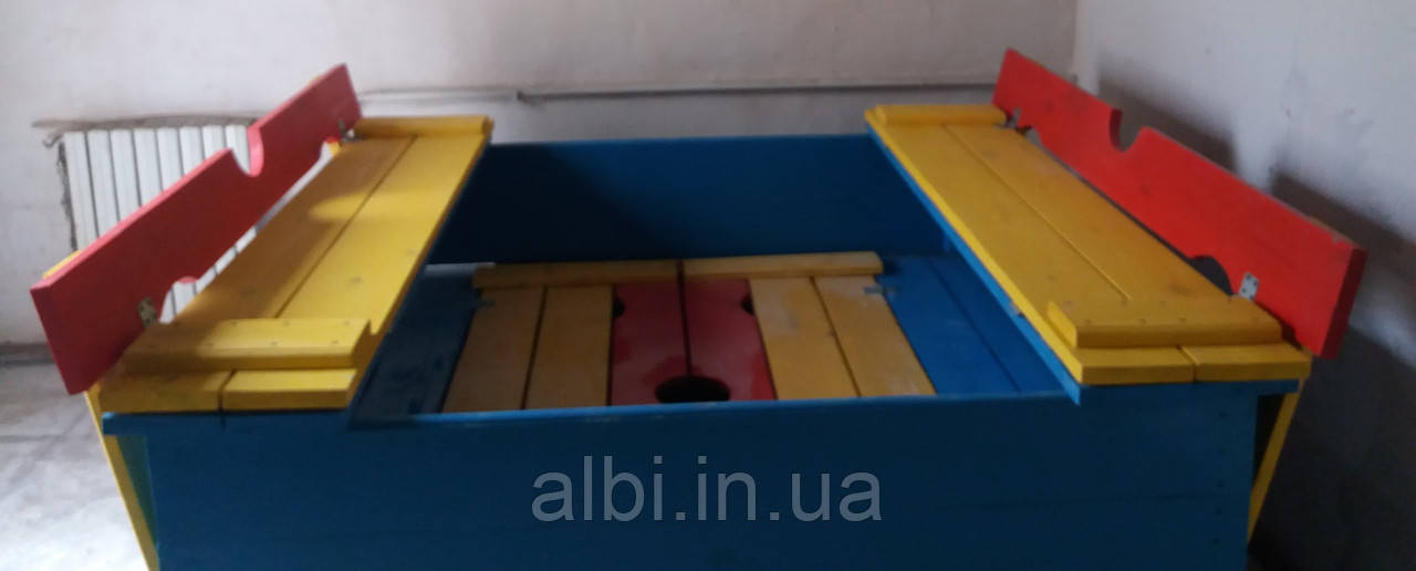 Песочница с крышкой (трансформер) 1,5х1,5