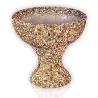 """Цветочник """"Чаша"""" на низкой ножке из вымытого бетона гранитная крошка"""