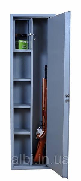 Оружейный сейф на 3 ружья с фальшпенелью СО-1400Ф