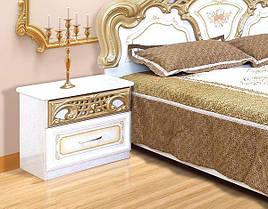 Тумбочка приліжкова з ДСП/МДФ в спальню Кармен Нова піно лак Світ Меблів