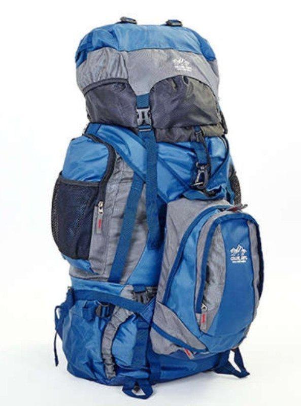 Туристический рюкзак- трансформер COLOR LIFE 159 синий-серый V-95 литров