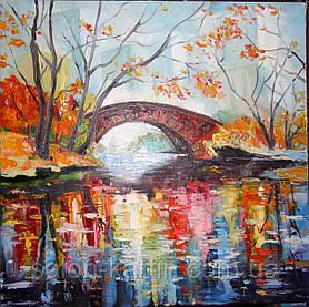 """Картина """"Осень, мостик"""""""